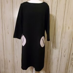 Dress Barn Black and White Lined Dress